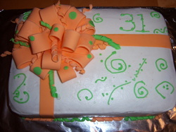 Excellent Orange And Green Birthday Cake Cakes By Nadiatampa Fl 813 909 6791 Funny Birthday Cards Online Elaedamsfinfo